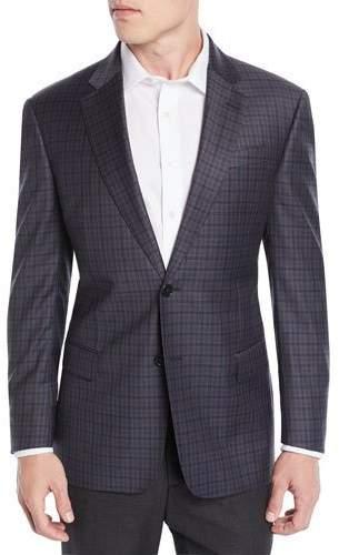 Emporio Armani Men's Tricolor Plaid Wool Jacket