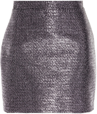 Samsoe & Samsoe Samse Samse Cory Metallic Tinsel Mini Skirt