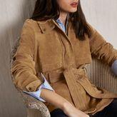 River Island Womens RI Studio Tan suede belted jacket