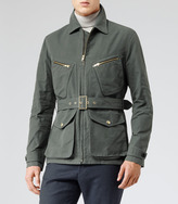 Reiss Crabtree FOUR POCKET BELTED FIELD JACKET