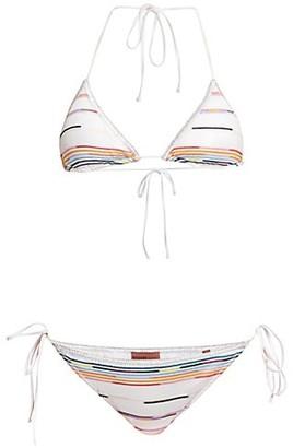 Missoni Multicolor Zigzag Two-Piece String Bikini