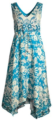 Johnny Was Giada Printed Linen Dress