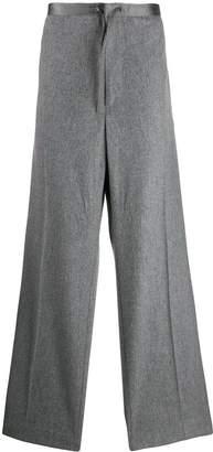 Jil Sander drawstring waist wide-leg trousers