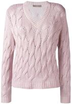 Cruciani cashmere cable knit jumper