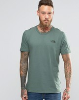 The North Face T-Shirt With Chest Logo In Green