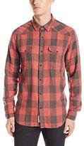 Lucky Brand Men's Santa Fe Western Shirt in Red Buffalo Check
