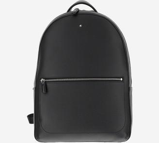 Montblanc Black Soft Grainy Leather Slim Backpack
