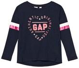 Gap Blue Galaxy Heart Logo Long Sleeve Tee
