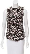 A.L.C. Abstract Print Silk Top w/ Tags