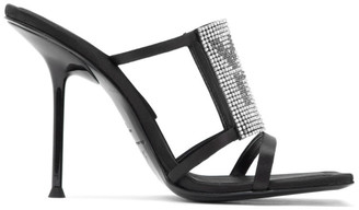 Alexander Wang Black Julie Logo Heeled Sandals