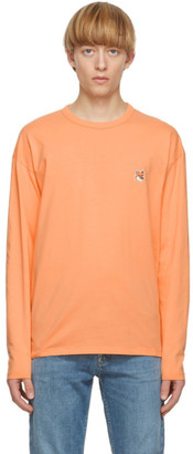 MAISON KITSUNÉ Orange Fox Head Long Sleeve T-Shirt