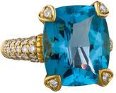 Judith Ripka Madeira Pavé Diamond & Topaz Ring