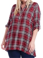 Fever Plus Size Plaid Button-Up Shirt