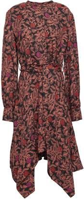 Proenza Schouler Asymmetric Printed Crepe Dress