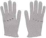 MM6 MAISON MARGIELA Grey Wool Rib Knit Gloves