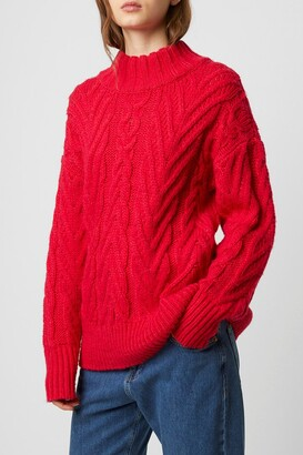 French Connection Nissa Cable Knit Pullover Sweater