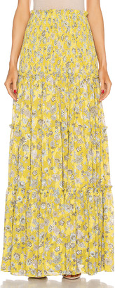 Alexis Galarza Skirt in Citron Floral | FWRD