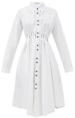 Palmer Harding Palmer//harding - Escen Cotton-pique Shirt Dress - White