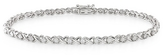 1 Carat Diamond 10K White Gold Bracelet