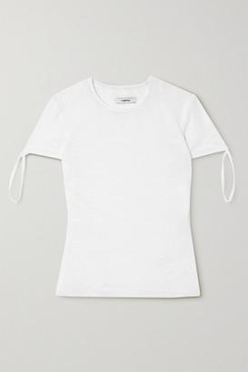 Miaou Tie Stretch-mesh T-shirt - White