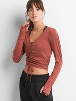 Gap GapFit lightweight brushed jersey gathered crop top