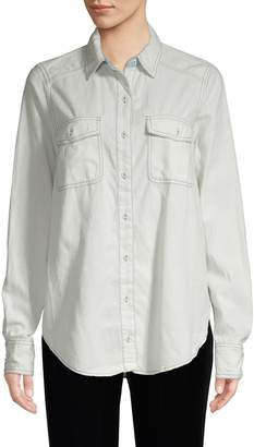 Free People Bandana Bandit Paisley Button-Down Shirt