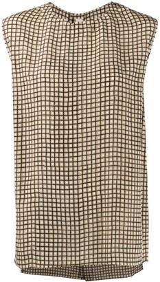 Marni Square Print Sleeveless Blouse
