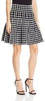 Max Studio Women's Printed Short Sweater Skirt