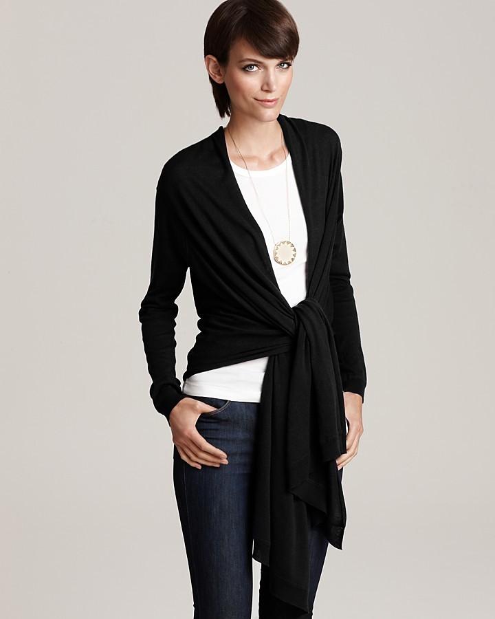 DKNY Long Sleeve Silk Cashmere Cozy