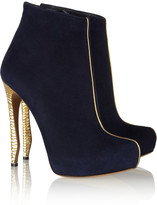 Nicholas Kirkwood Hammered metal and suede ankle boots