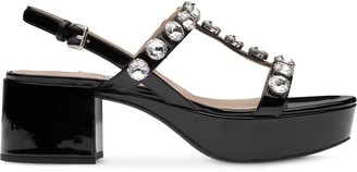 Miu Miu Crystal-Embellished Sandals