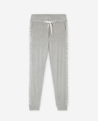 The Kooples Light grey fleece joggers with tulle detail