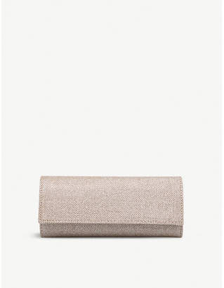 Carvela Kolluding metallic clutch bag