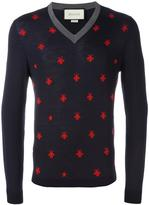 Gucci bee and star embroidered jumper