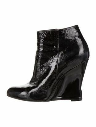 Lanvin Patent Leather Boots Black