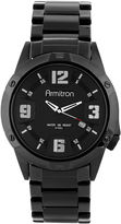 JCPenney Armitron All Sport Mens Black Stainless Steel Bracelet Watch
