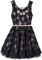 Knitworks Girls 7-16 Soutache Lace Flower Dress with Necklace