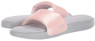 Nike Ultra Comfort 3 Slide (Wolf Grey/Wolf Grey/Echo Pink) Women's Slide Shoes