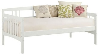 Overstock Twin size Traditional Pine Wood Day Bed Frame in White Finish