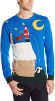 Blizzard Bay Men's Santa's Relief Light Up Ugly Christmas Sweater