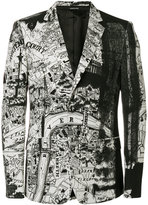 Alexander McQueen London Map blazer - men - Silk/Polyamide/Viscose/Wool - 46