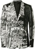 Alexander McQueen London Map blazer