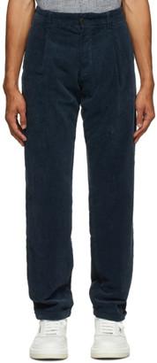 DOPPIAA Navy Corduroy Antioco Trousers