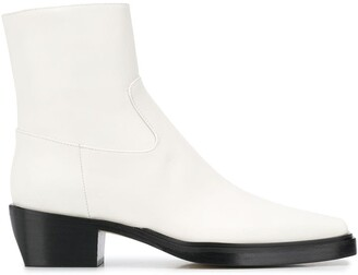 Gia Couture Zipped Ankle Boots