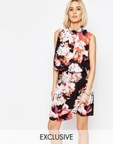 Gestuz Aya High Neck Dress in Floral Print