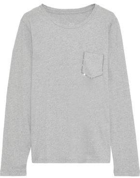 Majestic Filatures Crystal-embellished Cotton And Cashmere-blend Jersey Top