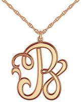Zales 25mm Monogram Initial Pendant in Sterling Silver with 14K Rose Gold Plate (1 Initial)
