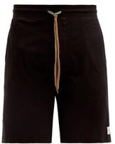Paul Smith - Logo Patch Cotton Jersey Pyjama Shorts - Mens - Black