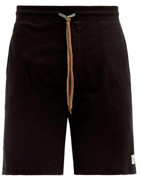 Paul Smith Logo-patch Cotton-jersey Pyjama Shorts - Mens - Black
