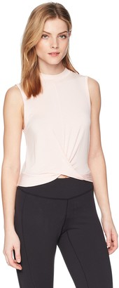 2xist Women's Twist-Front Crop Top Shirt
